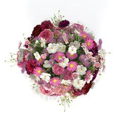 3D - Bunter Blumenstauß (II)