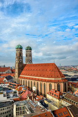 Cathedral Frauenkirche in Munich, Bavaria