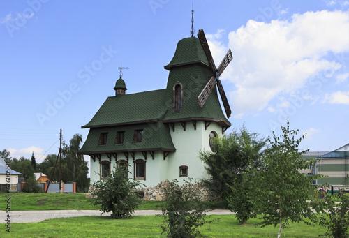 Old mill in Belokuriha resort. Altai. Russia.