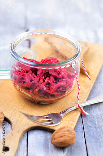 Rote Beete Salat, Rohkost, Rote Bete