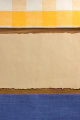 napkin at cutting wood