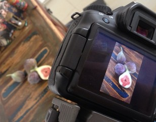 Backstage of food photography, figos