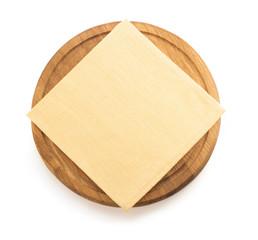 napkin at cutting board