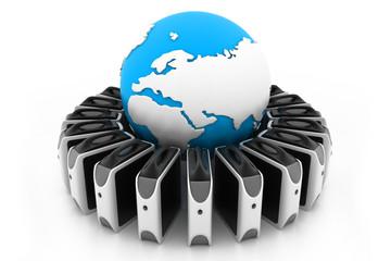 Global server network
