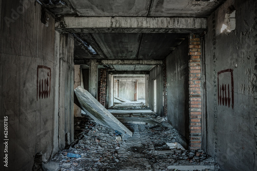 old abandoned building