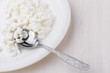 Curd,Cottage cheese on a plate