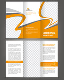 Vector trifold orange brochure print template design