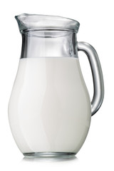 Jug of milk isolated