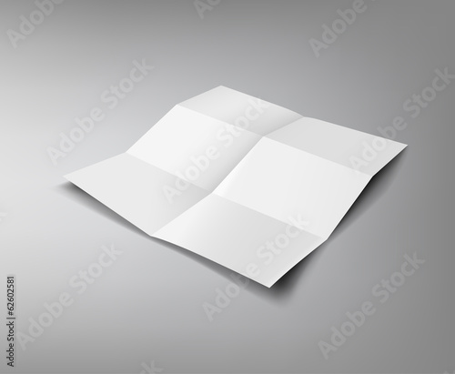 Paper Folded, six fold for business design
