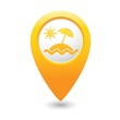 Beach icon on map pointer