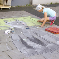 street painting in Geldern, 2012, Germany