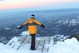 Kid on the platform for paragliding