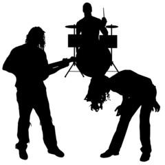 Vector musicians silhouette.