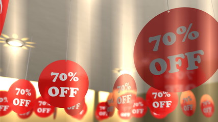 Shop store sale discount banners..