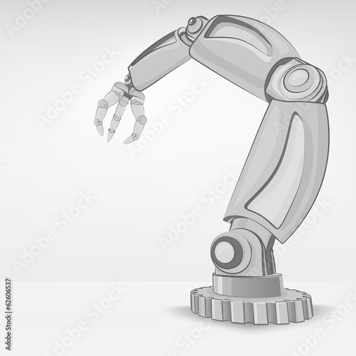cybernetic robotic hand used for automated manufacture vector