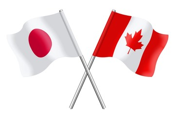 Flags : Japan and Canada