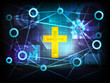 holy pray in business world transfer network vector
