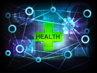 health in business world transfer network vector