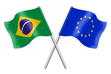 Flags : Brazil and Europe