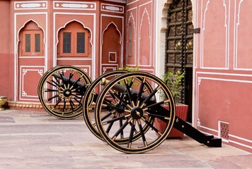 Cannons in Jaipur City Palace