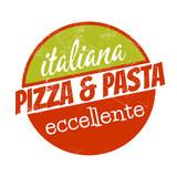 Fototapety pizza pasta symbol logo restaurant