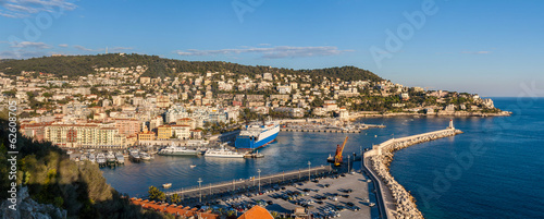 Port Lympia as seen from Colline du chateau - Nice - France