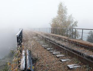 Railroad. Abandoned bridge