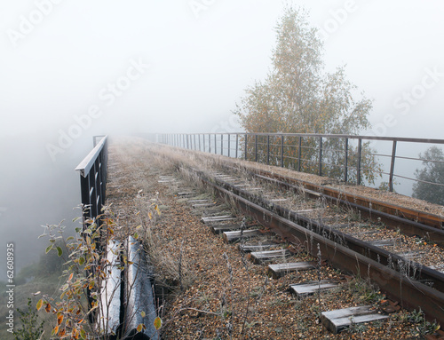 Railroad. Abandoned bridge