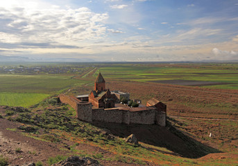Khor Virap monastery near Ararat mountains, Armenia