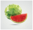 Geometric polygonal fruit, triangles, watermelon