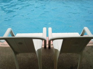 Chair and poolside
