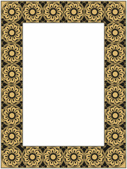 vector gold and black frame