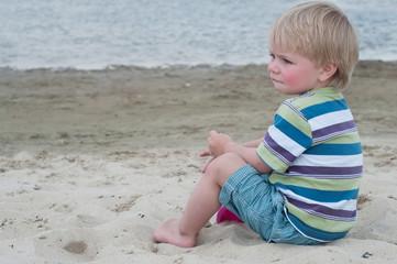 Little boy in striped t-hirt