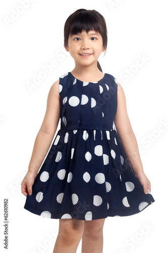 Little girl smiling isolated