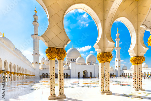 Foto op Canvas Temple Sheikh Zayed Mosque, Abu Dhabi, United Arab Emirates