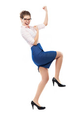 Joyful business woman