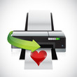 printing a heart illustration design