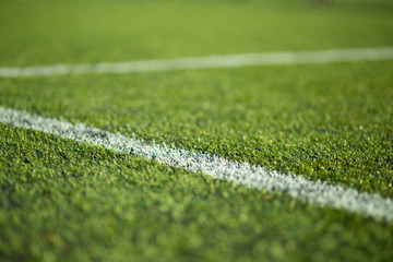 Close-up of soccer turf