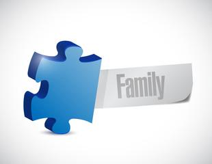family puzzle illustration design