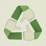 recycle hands symbol
