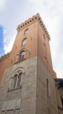 Tower in Italy with red Bricks (Tuscany)