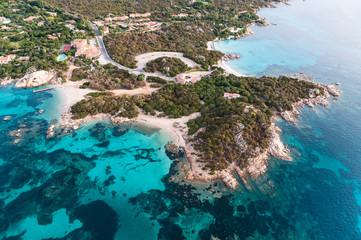 Costa Smeralda, Sardinia: Punta Capriccioli (aerial)