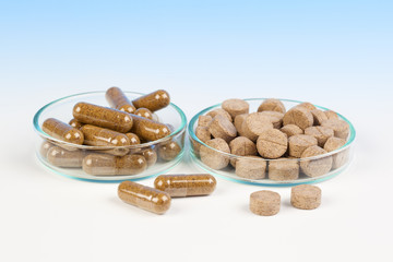 Alternative medicine tablets