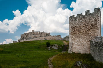 Horizontal view of famous Spis Castle, Slovakia.