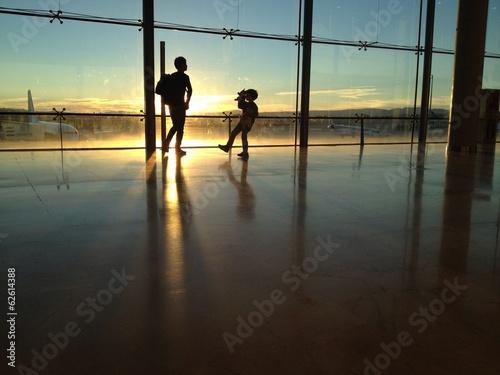 Atardecer en el aeropuerto