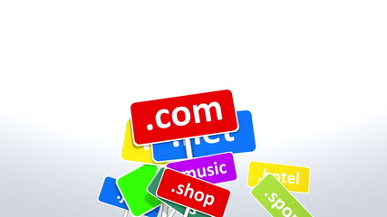 Internet website domains.
