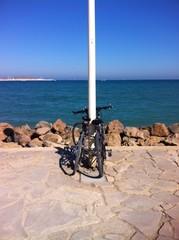 Con la bici a la playa