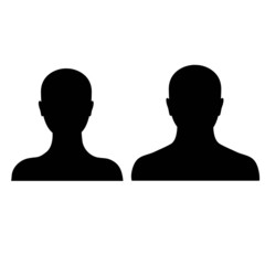 male and female silhouette on a white background