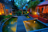 Private Garden at Sunset