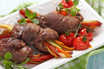 Steak Rolls with vegetables